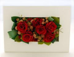 メモリアル花を保存 プリザーブドフラワーへ加工アレンジ10