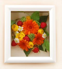 ブーケ花保存 プリザーブドフラワーへ加工事例45 造花プラスアレンジ
