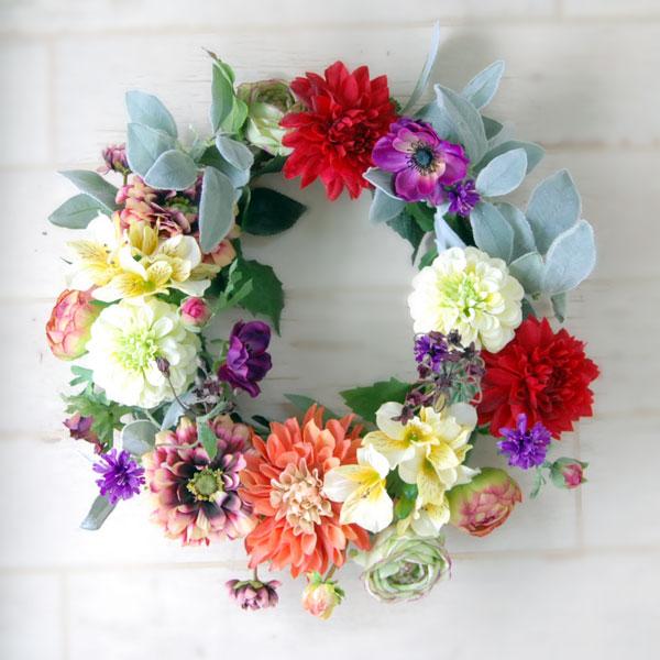光触媒アートフラワーオリエンタルリース(造花)直径45~50cm